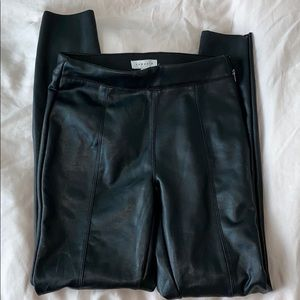 Topshop Faux Leather Skinny Pants